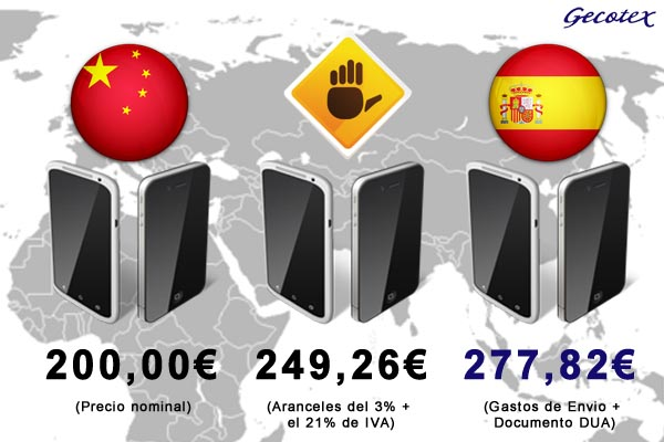 arancles e impuestos a pagar comprar producto a china
