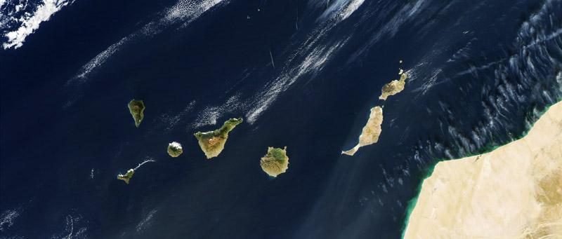 Mapa Canarias de la Nasa DUA
