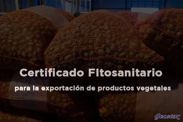 Certificado fitosanitario vegetales