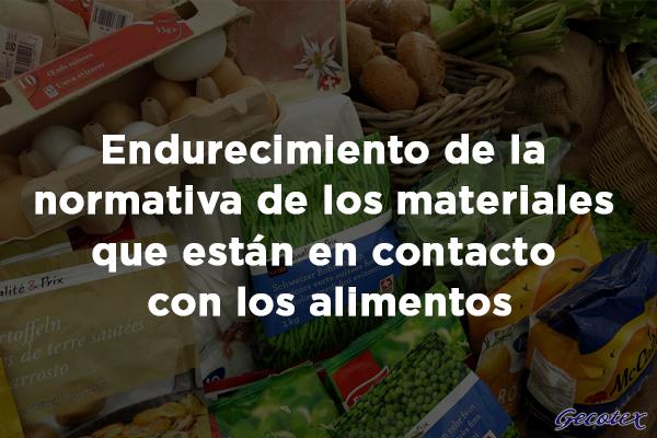Normativa de los materiales que están en contacto con los alimentos
